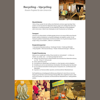 Recycling – Upcycling Inhaltsseite